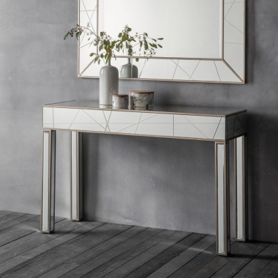 Hudson Hoyton Mirrored Console Table