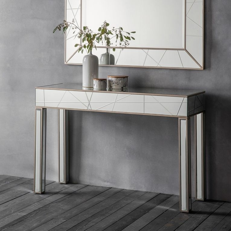 Buy hudson hoyton mirrored console table online cfs uk - Modern console table with mirror ...