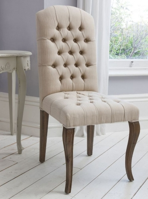 Hudson Living Maison Weathered Frame Button Chair (Pair)