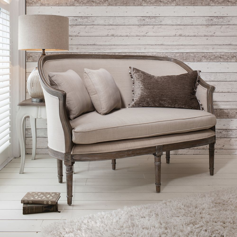 Hudson Living Maison Weathered with Linen 2 Seater Sofa