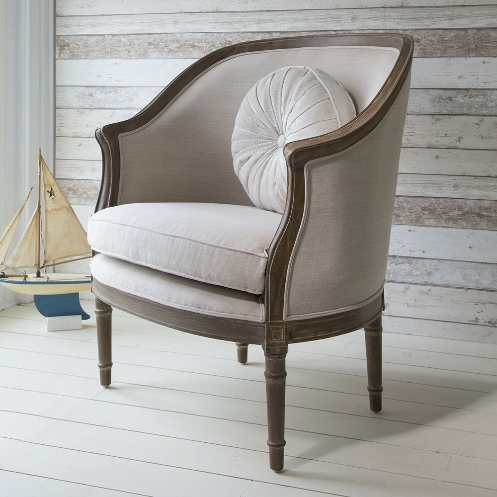 Hudson Living Maison Weathered with Linen Armchair