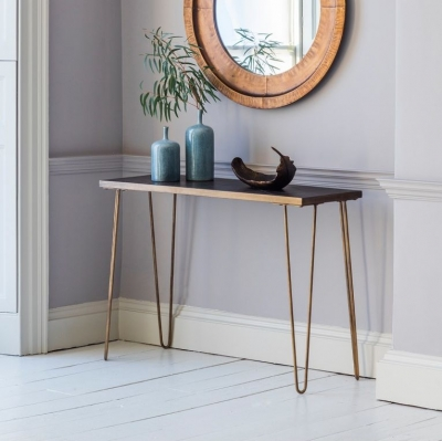 Hudson Living Pompeii Metallic Console Table