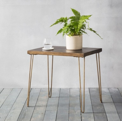 Hudson Living Pompeii Metallic Side Table