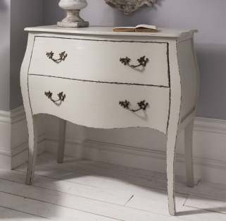 Hudson Living Tremoy Cool Grey Bombe Chest of Drawer