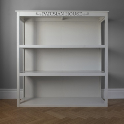 Hudson White Floor Standing Shelf Unit