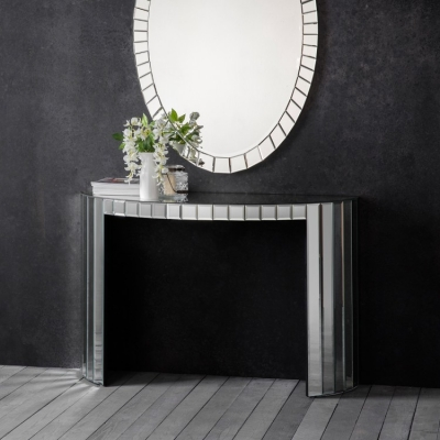 Hudson Living Travis Mirrored Console Table