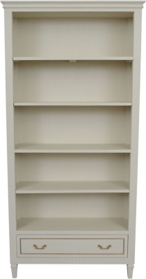 Agen French Oak and Old White Painted Bookcase