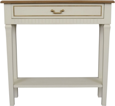 Agen French Oak and Old White Painted Console Table