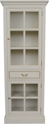 Agen French Oak and Old White Painted Display Unit