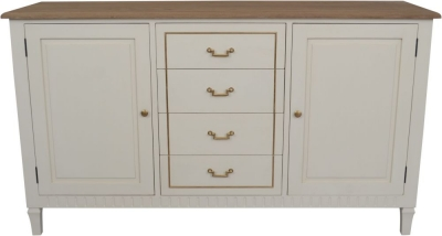Agen French Oak and Old White Painted Sideboard