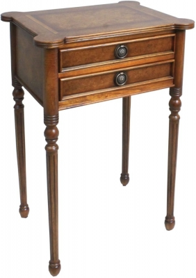 Amour French Dark Burl 2 Drawer Small Console Table