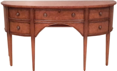 Amour French Dark Burl Georgian Dressing Table