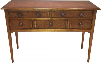 Amour French Dark Burl Serving Console Table