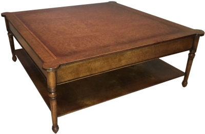 Amour French Dark Burl Square Coffee Table