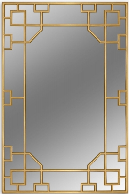 Bergerac Gold Leaf Rectangular Mirror - 120cm x 180cm