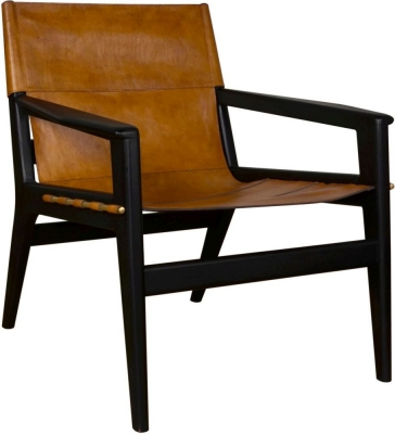 Bergerac Italian Leather Lounge Chair