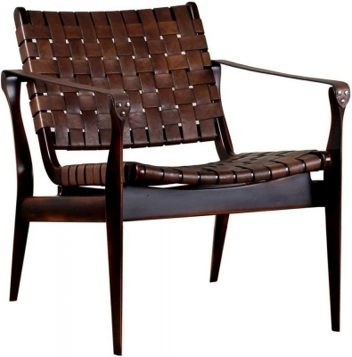 Bergerac Italian Vegetal Camel Leather Armchair