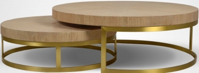 Bergerac Oak Nest of Coffee Tables