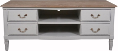 Bonaparte French Oak and Putty Painted TV Unit