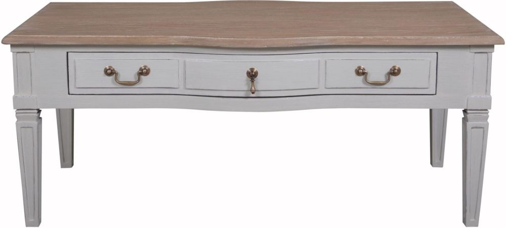 Bonaparte French Oak and Putty Painted Coffee Table
