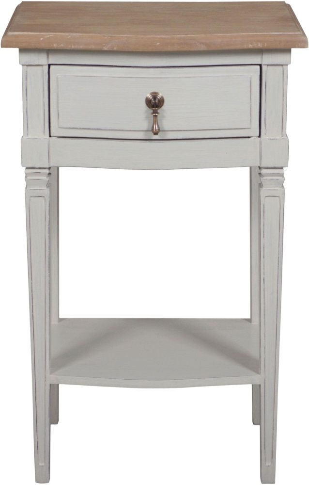 Bonaparte French Oak and Putty Painted Side Table