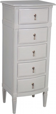 Bonaparte French Putty Painted 5 Drawer Chest