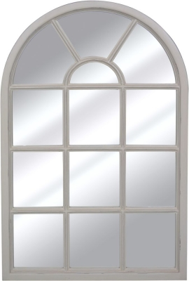 Bonaparte French Putty Painted Arch Mirror - 77cm x 120cm