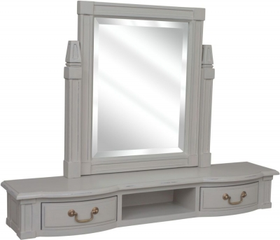 Bonaparte French Putty Painted Dressing Table Mirror Top Unit