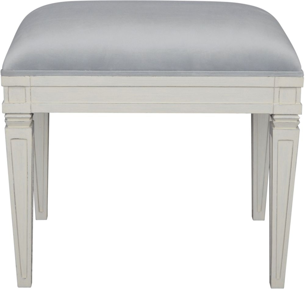 Bonaparte French Putty Painted Dressing Stool