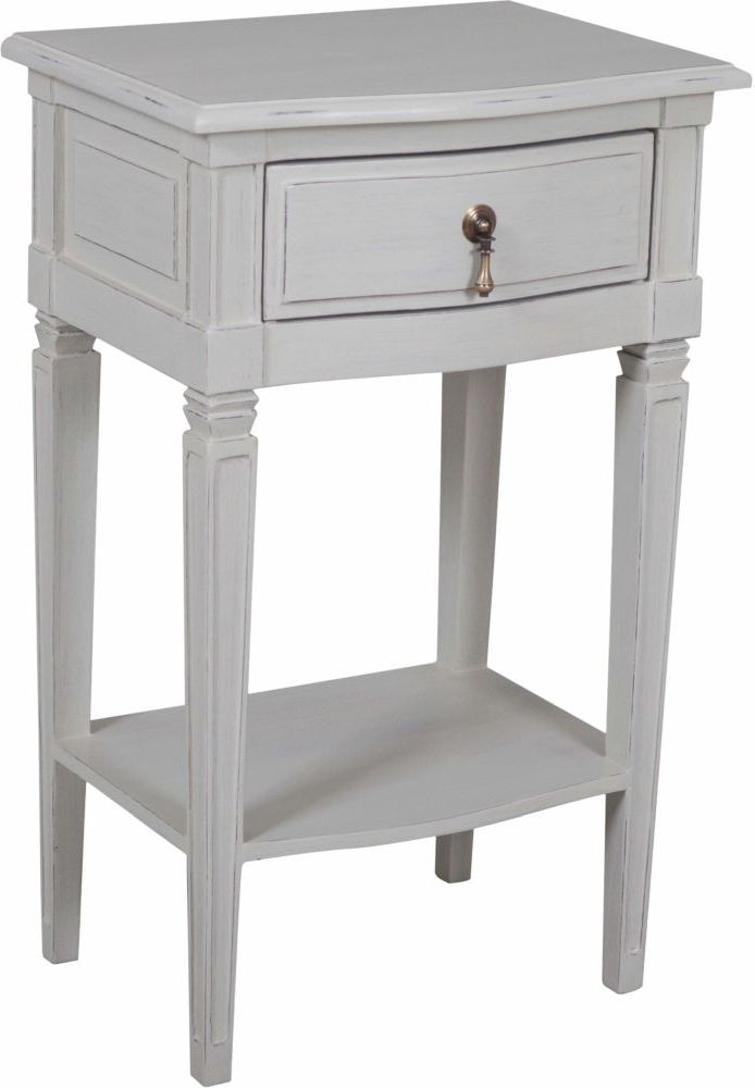Bonaparte French Putty Painted Side Table
