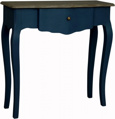 Boudoir French Stiff Key Blue Painted Large Console Table