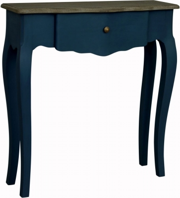 Boudoir French Stiff Key Blue Painted Medium Console Table