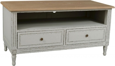 Charlotte French Distressed Stone Grey TV Unit