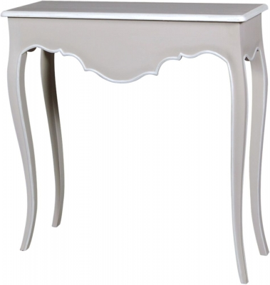 Chateau French Distressed Linen and Off-White Console Table