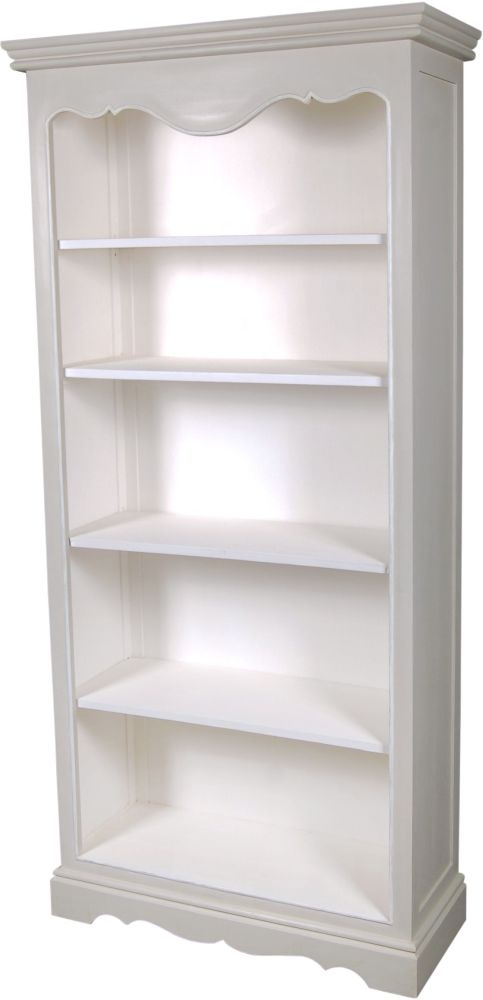 Chateau French Distressed Linen and Off-White Bookcase