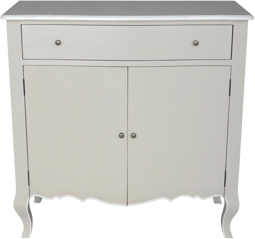 Chateau French Distressed Linen and Off-White Sideboard
