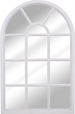 Delphine French Off-White Painted Arch Mirror - 77cm x 120cm