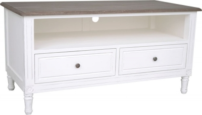 Delphine French Off-White Painted TV Unit