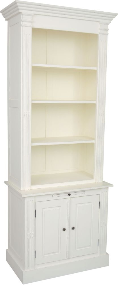 Delphine French Off-White Painted Bookcase