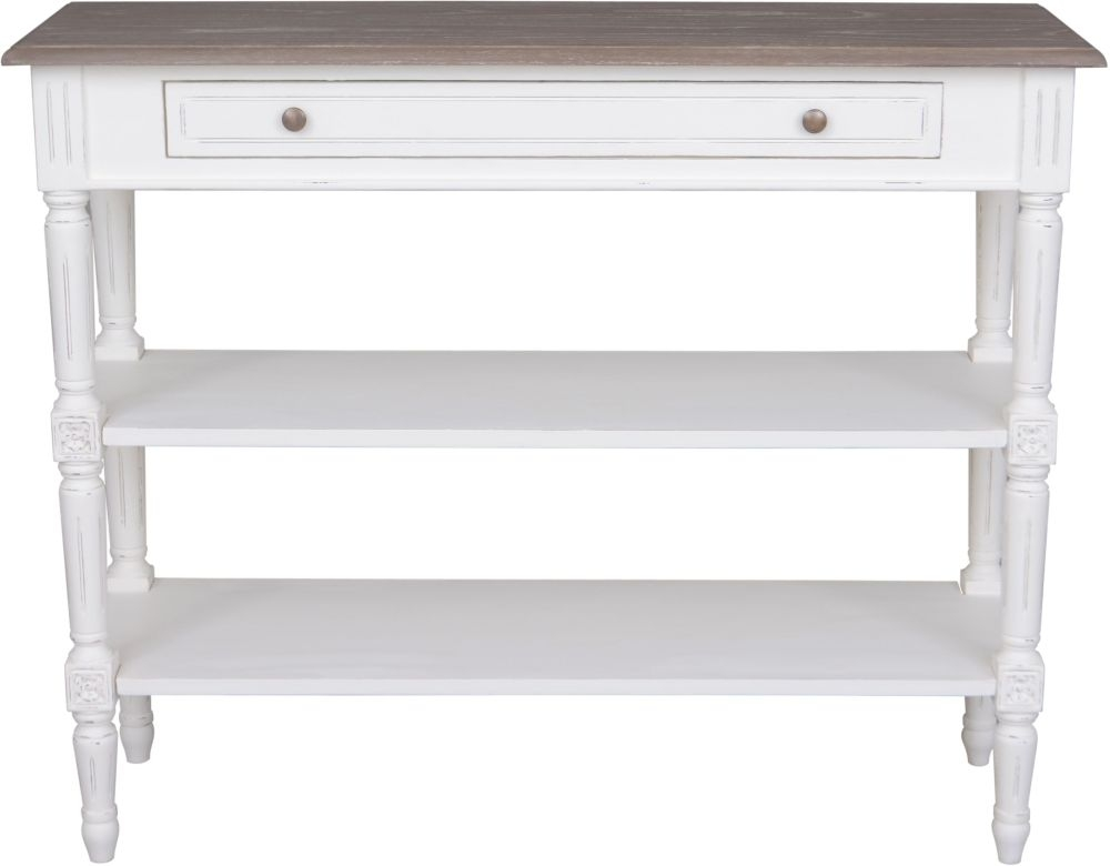 Delphine French Off-White Painted Console Table