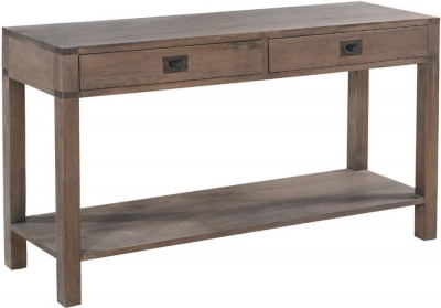 Normandy French Grey Oak 2 Drawer Console Table