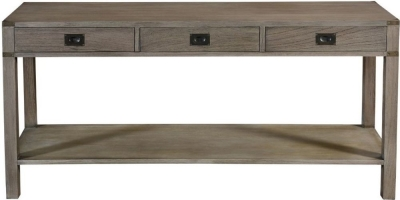 Normandy French Grey Oak 3 Drawer Console Table