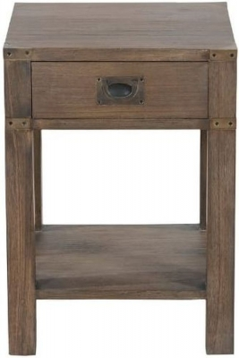 Normandy French Grey Oak Side Table