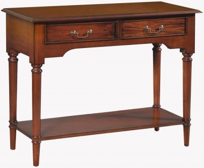 Palais French Mahogany 2 Drawer Console Table