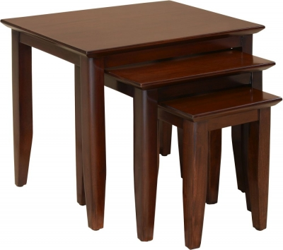 Palais French Mahogany Straight Leg Nest of Tables