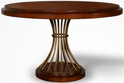 Provencal French Cherry Round Dining Table