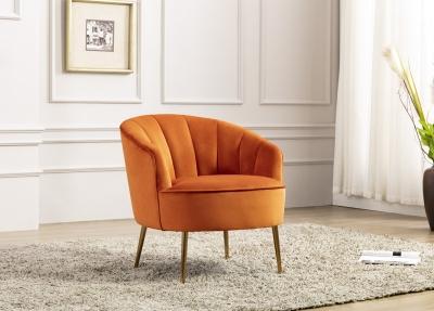 Stella Pumpkin Fabric Accent Chair