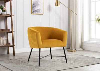 Zara Apricot Fabric Accent Chair