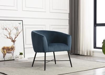 Zara Navy Fabric Accent Chair
