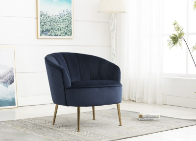 Stella Navy Fabric Accent Chair